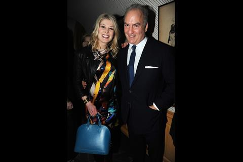 Rosamund Pike and Charles Finch